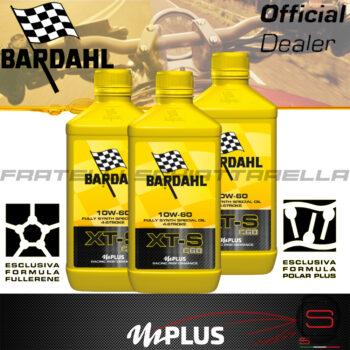 3 Litri Olio Moto Motore Bardahl XTS C60 10W60 4T Polarplus Fullerene Mplus Sint