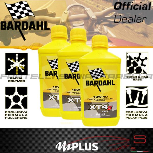 3 Litri Olio Motore Moto Bardahl XT4-S C60 10w40 4T Polarplus Fullerene Mplus 10w 40 Sintetico 4 tempi 357039 Performance XT-S XTS 357041