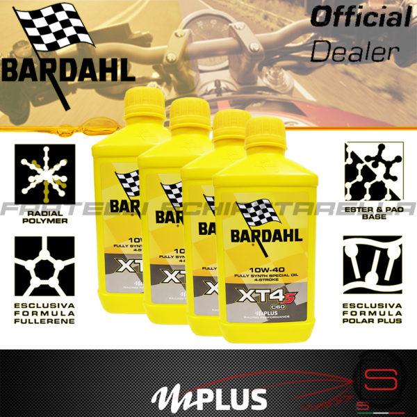 4 Litri Olio Motore Moto Bardahl XT4-S C60 10w40 4T Polarplus Fullerene Mplus 10w 40 Sintetico 4 tempi 357039 Performance XT-S XTS 357041 (2)