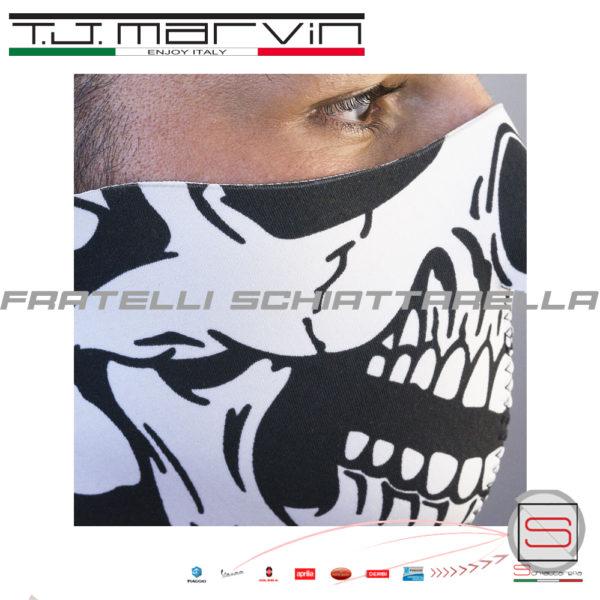 Maschera Mentoniera Teschio Neoprene Antipioggia Antivento T.J.Marvin A016-00