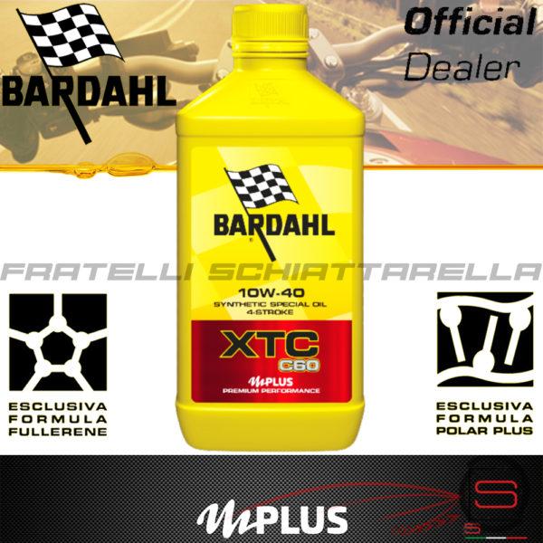 Olio Motore Moto Bardahl XTC C60 10W40 4T Polarplus Fullerene Mplus 10 Sintetico 4 tempi pure perfomance 100% premium lubrificanti