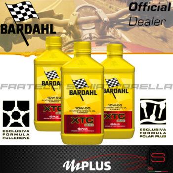 Olio Motore Moto Bardahl XTC C60 10W50 4T Polarplus Fullerene Mplus 10 Sintetico 4 tempi pure perfomance 100% premium lubrificanti 3 lt litri