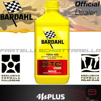 Olio Motore Moto Bardahl XTC C60 10W50 4T Polarplus Fullerene Mplus 10 Sintetico 4 tempi pure perfomance 100% premium lubrificanti