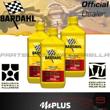 Olio Motore Moto Bardahl XTC C60 15W50 4T Polarplus Fullerene Mplus 10 Sintetico 4 tempi pure perfomance 100% premium lubrificanti 3 Lt