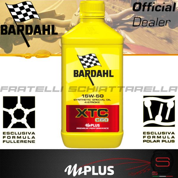 Olio Motore Moto Bardahl XTC C60 15W50 4T Polarplus Fullerene Mplus 10 Sintetico 4 tempi pure perfomance 100% premium lubrificanti