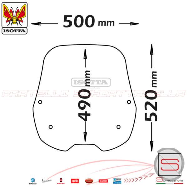 sc3037 Lastra Parabrezza Paravento Isotta Tipo Originale 4 Fori Kymco People S 125-150I