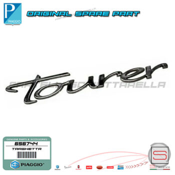 656744 Targhetta Adesiva Decalco Tourer Piaggio Beverly