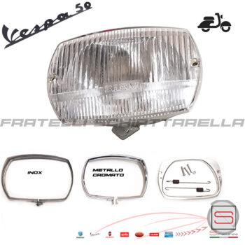 Gruppo Ottico Faro Proiettore Siem + Kit Cornice Piaggio Vespa 50 Special