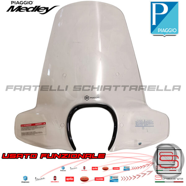 Lastra Parabrezza Paravento Originale Piaggio Medley 125 150 Senza Attacchi 1B003991 usato