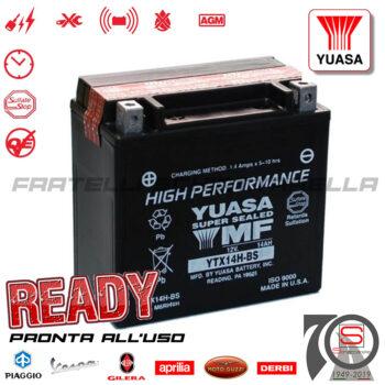 Batteria Accumulatore Moto Elevato Spunto Originale Yuasa YTX14H-BS E0821214 E07062 638733 E01141 Yuasa AP8124284 638733 BMW GS Harley Davidson
