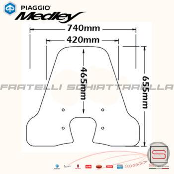 Parabrezza Paravento Isotta Piaggio Medley 125 150 dal 2016 CLS4187 A761 A761