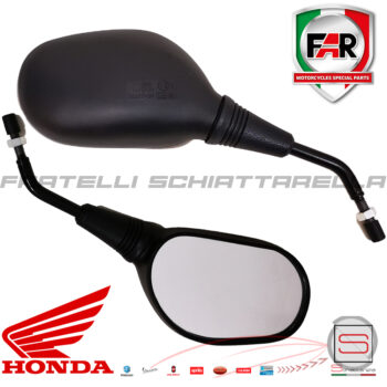 Coppia Specchi Specchietti Retrovisore Sinistro Destro Honda Sh 125-150-300 6847 6848 Far