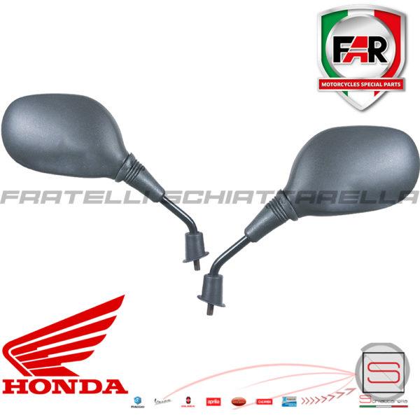 Coppia Specchietti Retrovisore Far Nero Honda Sh Dylan Ps 125-150 IE 2000-2008 0505 0504