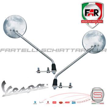 Coppia Specchio Specchietto Retrovisore Sinistro Destro Cromato Piaggio Vespa Old Vintage 1025 1024 Far Rally Sprint Ts Px Special R 122760920 122760110 20255-sx