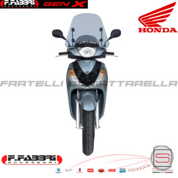 Cupolino Parabrezza Basso Lastra Fumè + Attacchi Fabbri Honda SH 125-150 2009-12 Summer 2823LD 2823LD