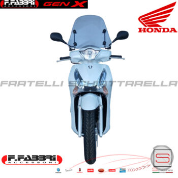 Cupolino Parabrezza Basso Lastra Fumè Completo Di Attacchi Fabbri Honda SH 125I 150I ABS 2013 2014 2015 2016 Summer 2928LD