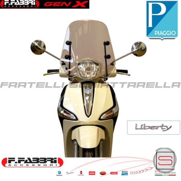 Cupolino Parabrezza Basso Lastra Fumè Completo di Attacchi Fabbri Piaggio Liberty Iget 50 125 150 ABS 2015 2016 2017 2018 Summer 3183 LD 3183LD 3183LD