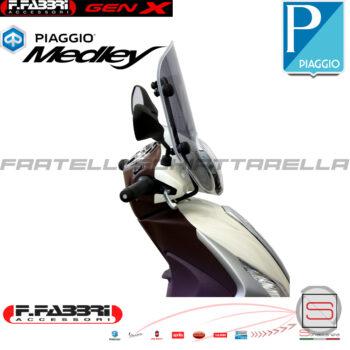 Cupolino Parabrezza Basso Lastra Fumè Fabbri Piaggio Medley 125 150 2016 2017 2018 Summer 3288LD 3288LD
