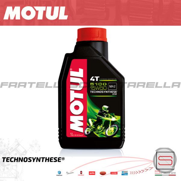 Olio Lubrificante Motul 5100 15W50 4T Technosynthese Motori 4 Tempi Semisintetico 104080 ideale per motori BMW DUCATI