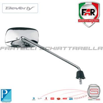 Specchio Specchietto Retrovisore Destro Piaggio Beverly Rst Cromato Far 6044 eq. CM025502
