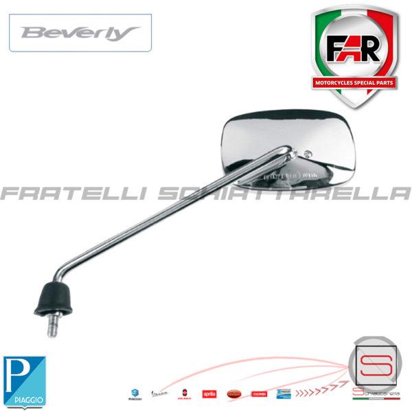 Specchio Specchietto Retrovisore Sinistro Piaggio Beverly Rst Cromato Far 6045 eq. CM025501