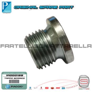 Tappo Scarico Olio Motore Originale Piaggio Beverly 350 X10 Mp3 4T IE 878622 1A000139