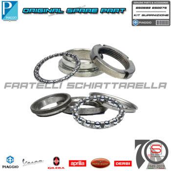 Kit Cuscinetti Forcella Serie Sterzo Completa Originale Piaggio Vespa Px Pk Xl 650075 650693