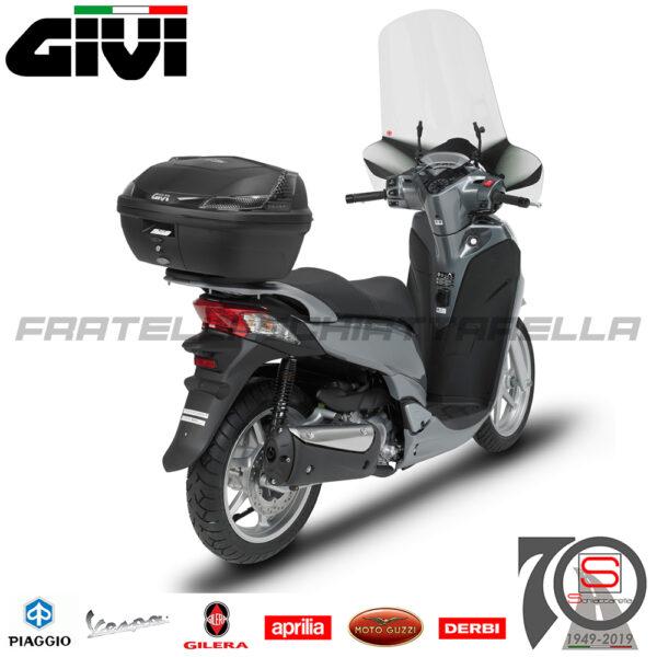 Bauletto Valigia Moto Scooter Givi B47 Blade Tech 47Lt Con Piastra Universale cofanetto B47NTML colore Nero kit universale, catadiottri Fumè Monolock Centrale