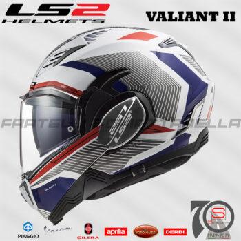Casco Helmet Modulare Apribile LS2 FF900 Valiant II Revo Bianco Rosso Blu honda Bmw Motorrad touring road enduro 509002232 white red blue