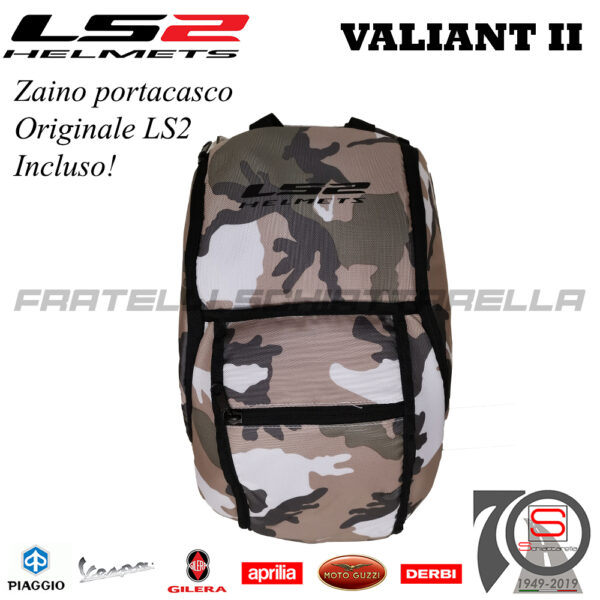 Casco Helmet Modulare Apribile LS2 FF900 Valiant II Revo Bianco Rosso Blu honda Bmw Motorrad touring road enduro 509002232 white red blue zaino