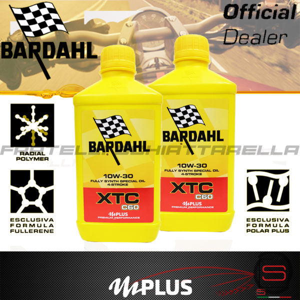 2 litri Olio Moto Bardahl XTC C60 10W30 4T 4 Tempi Sintetico Fullerene Olio Motore Moto Bardahl XTC C60 10W30 4T Polarplus Fullerene Mplus 10 Sintetico 4 tempi pure perfomance 100% premium lubrificanti 2 litri 326140 348141