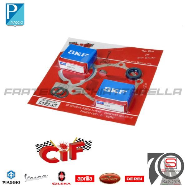 5182-KT Kit Cuscinetti Guarnizioni Paraolio Revisione Motore Piaggio Si Ciao Bravo