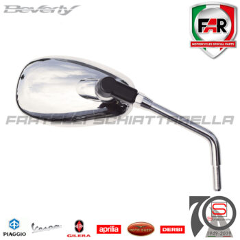 Specchio Specchietto Retrovisore Destro - Sinistro Piaggio Beverly 125-300-350 Rst CM179904 Cromato 7359 CM179905