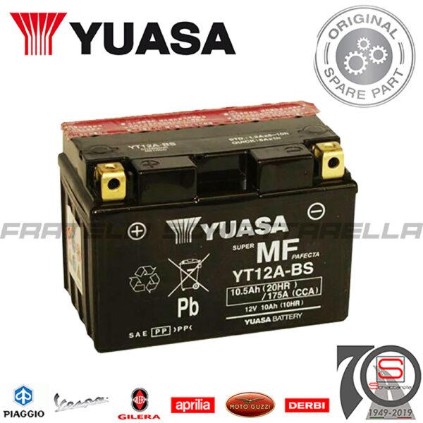 Batteria Accumulatore Moto Scooter YUASA YT12A-BS E01129 E06031 E07057 E0820910 okyami