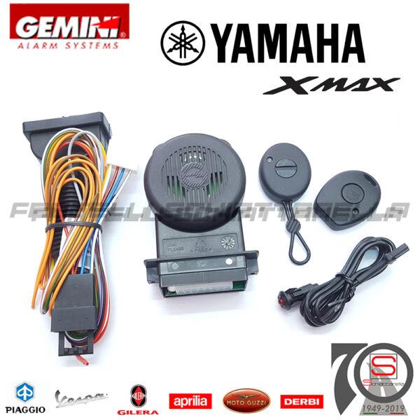 Kit Antifurto Elettronico Antirapina Gemini 953NH Yamaha Xmax300 dal 2017 Alarm 953NN 953N KITCA1088 953NH xmax 300