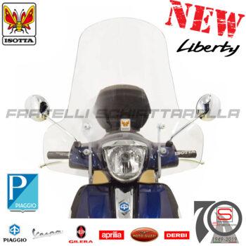 Parabrezza Paravento Con Attacchi Isotta Piaggio Liberty Rst Moc Iget 2004-2020 E342 CLS342