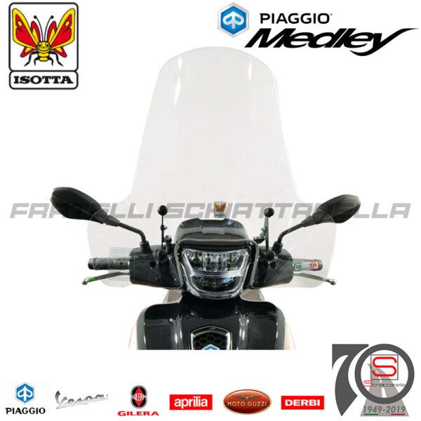 Parabrezza Paravento Con Attacchi Isotta Piaggio Medley 125-150 dal 2020 7057A A5615A CLS4189 4189 CLS