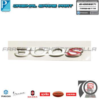 Targhetta Adesivo Decalco 300S Manubrio Originale Piaggio Beverly 300 2020 2H003371