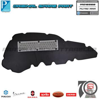 Filtro Aria Elemento Filtrante Depuratore Originale Piaggio Medley 125 150 2020 1A016566 4t IE ABS