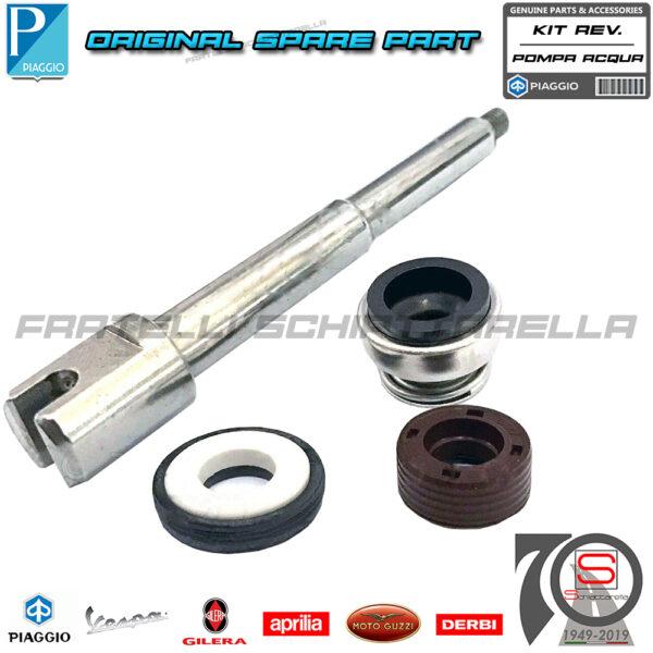 Kit Revisione Pompa Acqua Completo Albero Original Piaggio Beverly X8 X9 400 500 841329 486216 485084 841330 AP8560018 AP8560020 AP8560094 828394 825577 AP8560038 497486