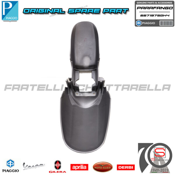 Parafango Anteriore Grigio 760B Originale Piaggio Beverly IE ABS Sport Touring 66719700H4 66719750H4