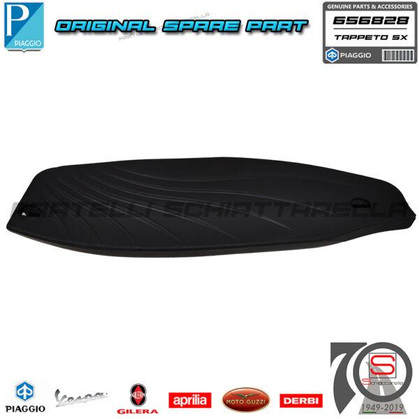 Tappeto Tappetino Pedana Sinistra Originale Piaggio Beverly 125 300 350 RST Sport Poggiapiedi Gomma Protezione 656828