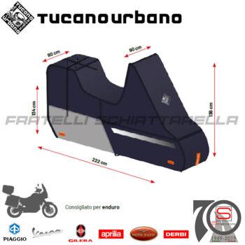 Telo Coprimoto Copriscooter Impermeabile Tucano Urbano Riparo Antipioggia Tg. XL 222PRO-BS Enduro Moto GranTurismo