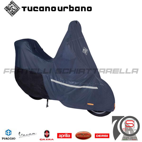 Telo Coprimoto Copriscooter Impermeabile Tucano Urbano Riparo Antipioggia Tg. M scooter parabrezza bauletto 218 PRO blu scuro