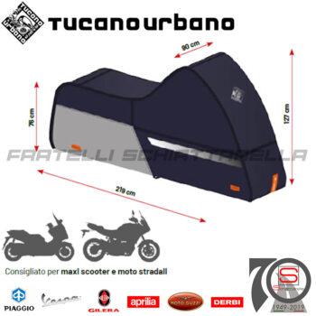 Telo Coprimoto Copriscooter Impermeabile Tucano Urbano Riparo Antipioggia Tg. L 220PRO-BS Maxi Scooter Moto Stradali