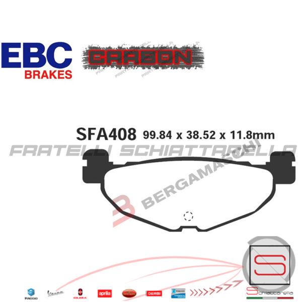 Pastiglie Freno Anteriore + Posteriore Ebc Yamaha T-Max 500 2008 2009 2010 2011 2012 Tmax SFAC252 SFAC408