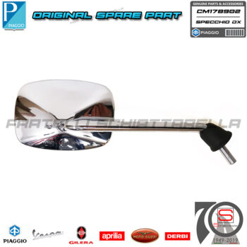 Specchio Specchietto Destro Originale Piaggio Vespa S 4T 4V 50 125 150 CM178902