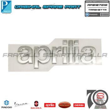 Targhetta Adesiva Aprilia Scudo Anteriore Originale Scarabeo Light 250 300 400 AP8187010