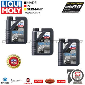 3 Litri Olio Motore Moto Scooter Liqui Moly Street 4T 10w40 Sintetico API SN Jaso MA2