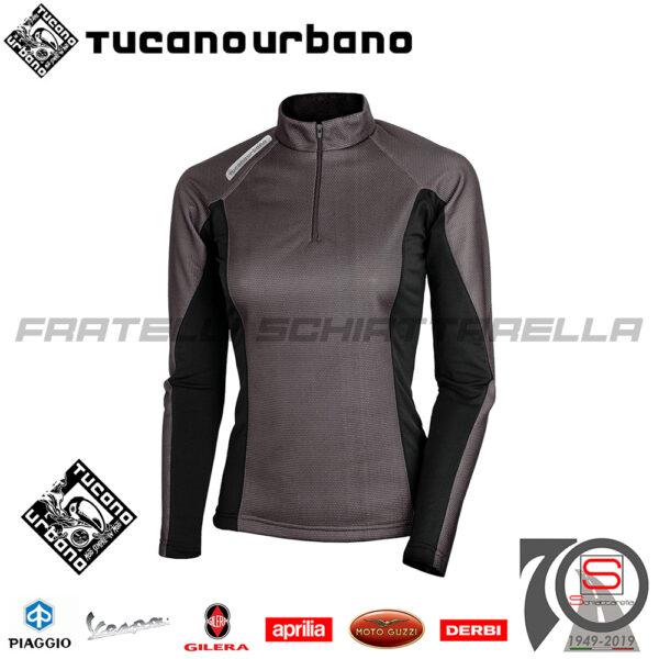 Maglia Termica Antivento Donna Tucano Urbano Upload Lady Plus Nero Taglia S 6680P 6680P-N3